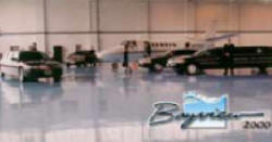 A fleet of Bayview Limousines in the Hanger!